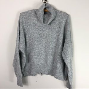 Topshop Gray Soft Turtleneck Sweater Oversized